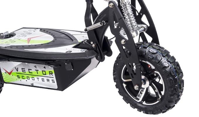 Las ruedas y la suspensión patinete electrico