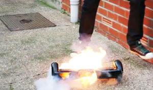 incendios de baterías Hoverboard Eléctrico